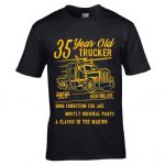 Premium Funny 35 Year Old Trucker Classic Truck Motif For 35th Birthday Anniversary gift t-shirt